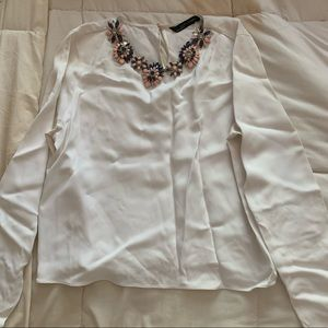 Zara Long Sleeve Blouse Size Small